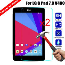 2x Genuine HD Tempered Glass Screen Protector Cover For LG G Pad 7.0 V400 V410