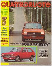 QUATTRORUOTE 12/1976 FORD FIESTA L 1100 – LANCIA BETA 2000