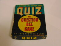 1939 Quiz The Question Bee Game of Interesting Facts by Whitman Publishing Co