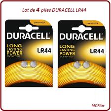 Lot 4 piles boutons AG13/LR44 alcaline Duracell, livraison rapide et gratuite