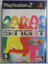 COMPLET Jeu DISNEY SING IT playstation 2 PS2 francais hannah montana camp rock