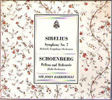 BARBIROLLI: SIBELIUS Symphony 7 SCHOENBERG Pelleas et Melisande CD Sir John Live