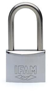 IFAM Long Shackle Marine  Padlock Keyed Alike. - 40mm. One key fits all.