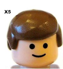 LEGO® 5 Pieces Male Hair Brown  for Minifigs NEW FREEPOST WORLDWIDE
