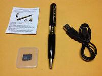 8GB Gold HD Spy Pen Camera DVR Audio Video Recorder Camcorder Mini DV 1280*960