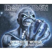 IRON MAIDEN Different World RARE RARE LIVE 2TRK UK CD Single SEALED USA seller