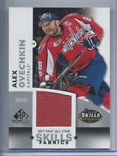 17-18 SP GAME USED NHL ALL STAR SKILLS FABRIC JERSEY ALEX OVECHKIN SP CAPS