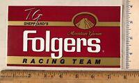 Vintage TG Shepherd Tim Richmond Folgers Coffee Nascar Racing Team Decal Sticker