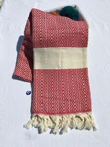 Turkish Luxury Bamboo Peshtemal Towel for Bath, Sauna, Beach