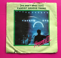 """E861, (We Don't Need This) Fascist Groove Thing Heaven17, 7""""Single, Ex Condition"""