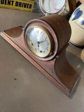 seth thomas mantle clock old rare no key nice wood