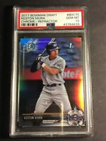 2017 Bowman Draft Chrome Refractor Keston Hiura Rookie PSA 10 Gem Mint