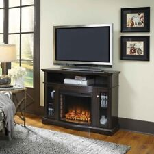 Media Electric Fireplace Tv Stand Entertainment Center Freestanding Mantel