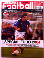 FRANCE FOOTBALL 1/06/2004; Spécial Euro 2004/ Giuly entre Monaco et Barcelone