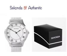 Sekonda Gents Stainless Steel Silver Strap Expandable Watch With Gift Box 3022B