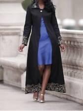 Women's Church Black light weight Embroidery coat jacket Fall Spring plus18WT1XT