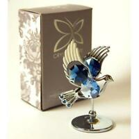 Crystocraft Dove Collectible Bird Figurine Decor Gift with Swarovski Crystal
