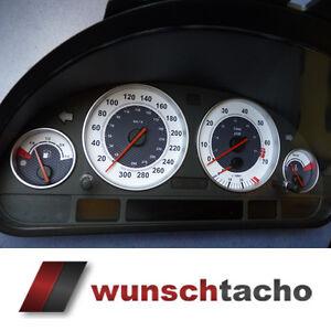 "Tachoscheibe für BMW E38-E39/E53/X5  ""Carbon-Weiß.""     Benziner"
