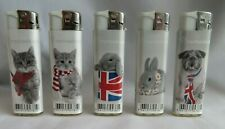 5 x  Electronic Refillable Gas  Lighters by PROF ( Rachaelhale Design )