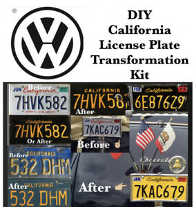 DIY CALIFORNIA Legacy License Plates volskwagen modern and vintage