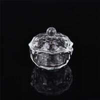 Crystal Glass Dappen Dish with Lid Bowl Cup Nail Art Craft Salon School ToolRDKJ