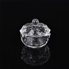 Crystal Glass Dappen Dish with Lid Bowl Cup Nail Art Craft Salon School Tool  IO