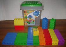 LEGO QUATRO DUPLO 5357 Large 70 Block BOX Baby Toddler Preschool LOT SET RARE