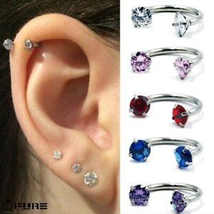Surgical Steel Captive Cartilage Septum Helix Nipple Ear Lip Ring Nose Piercing