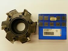 Sandvik Ra2852 125 25 15 Degree 50 Face Mill Spkn 1504 Carbide Insert B980