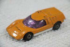 Matchbox Lesney Superfast - No.66 Mazda RX 500 - Orange/White -Made England 1971