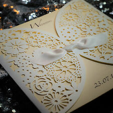 Stunning lace effect laser cut invitations! Wedding x 25 Fully personalised