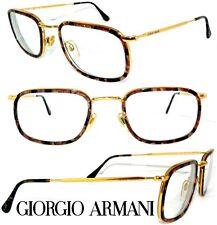 GIORGIO ARMANI BRILLE 155 GOLD SCHILDBLATT SONNENBRILLE VINTAGE HERREN DAMEN NOS