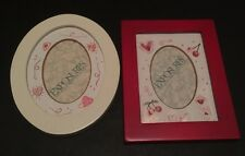 NEW NWT Lot 2 Magnetic Frames By Exposures Red White Holiday Christmas Valentine