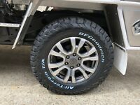 "NEW Genuine FORD WILDTRAK RANGER 2018 MODEL 18"" WHEELS & BF GOODRICH AT TYRES"