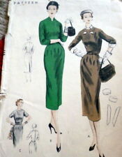 LOVELY VTG 1950s DRESS VOGUE Sewing Pattern BUST 36
