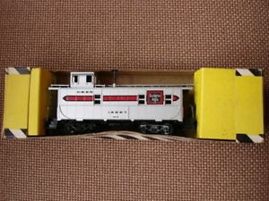 hobbyline electric train caboose #7023 vintage SEE PICS!! silver / red