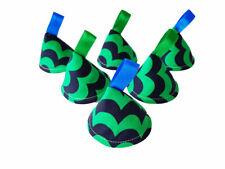 Pee Pee Teepee x6 / Wee Stop Cones Teepees / Baby Shower Gift / Green Blue Waves