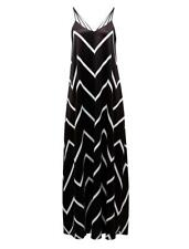 FRENCH CONNECTION BLACK/WHITE CHEVRON MAXI DRESS SIZE 6 XS BNWT RRP $169.95