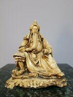 "Vintage Mongolian Mudman Figure Warrior Chingiz  Khan  8""  Tall Statue"