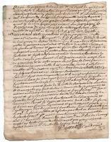 1751 Louis XV royal notary autograph manuscript royal lily flower official paper