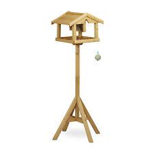 Vogelhaus mit Ständer Vogelfutterhaus Holz Futterstation für Vögel Futterhaus