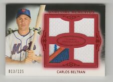 2011 TOPPS MARQUEE CARLOS BELTRAN QUAD JERSEY WITH PATCH 13/125 CARD #GMQR-45