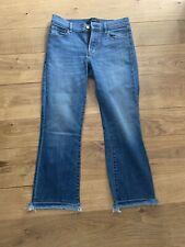 J Brand Cropped Frayed Hem Blue Jeans Size 28