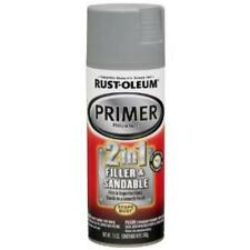 Rust-Oleum 260510 Auto 2 In 1 Filler And Sandable Primer, Gray, 12 Oz