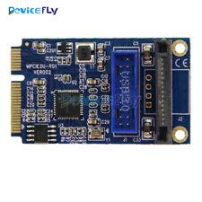 Mini PCI-E to USB Adapter PCIE to 19Pin SATA Dual USB3.0 Mini Expansion Card