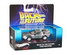 BACK TO THE FUTURE TIME MACHINE DELOREAN HOT WHEELS ELITE ONE DIECAST SCALE 1/50
