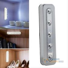 5 LED Touch Night Light Home Kitchen Under Cabinet Closet Push Tap Stick Lamp