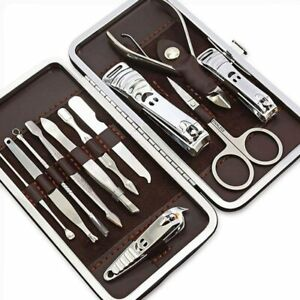 12pcs Nail Care Kit Cutter Set Clippers Manicure Pedicure Cuticle Tool Gift Set