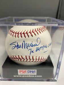 Stan Musial 7x Batting Champ Signed Official Baseball PSA/DNA 9.5 COA Open Seals