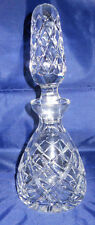 Polish Hand Cut 24% Lead Crystal Wine Decanter with Stopper Poland